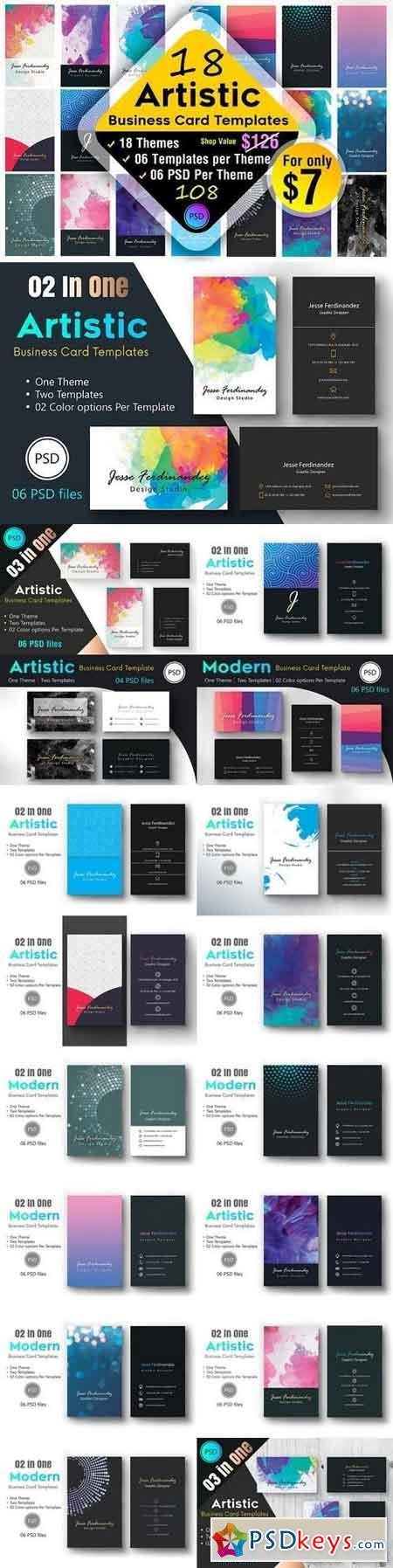 18 Artistic Business Card Bundle !!! 1327341