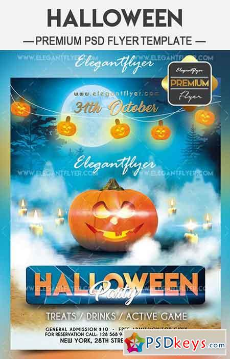 halloween party 2017 flyer psd template facebook cover - Halloween Party Music Torrent