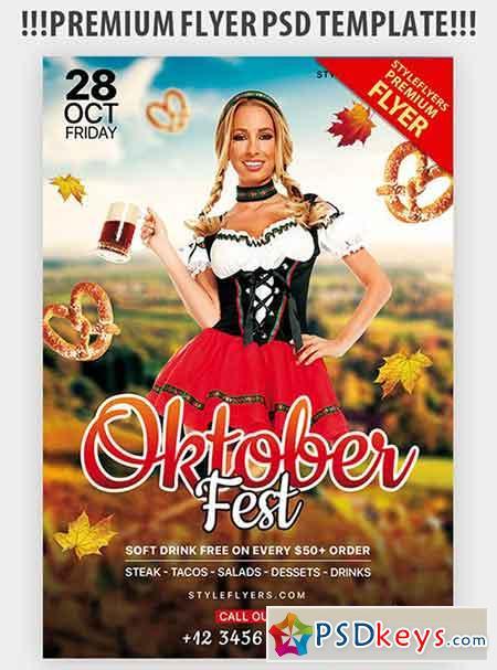 Oktoberfest V03 PSD Flyer Template