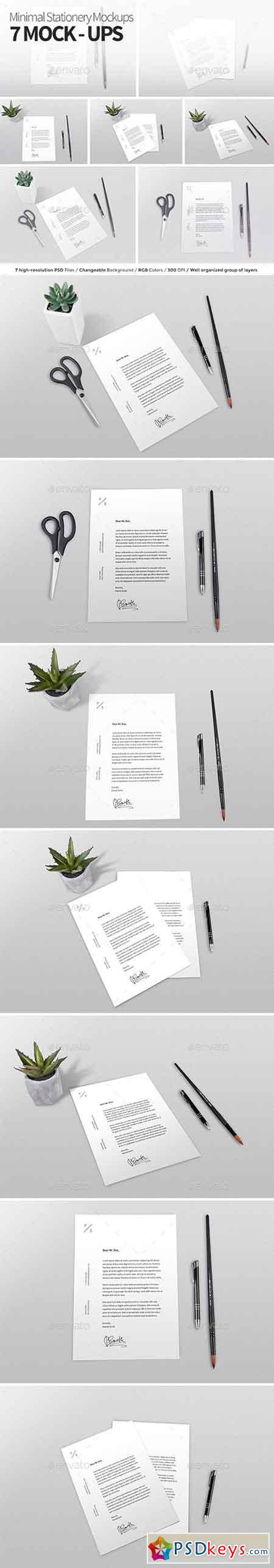 Minimal Stationery Mock-ups 20710269