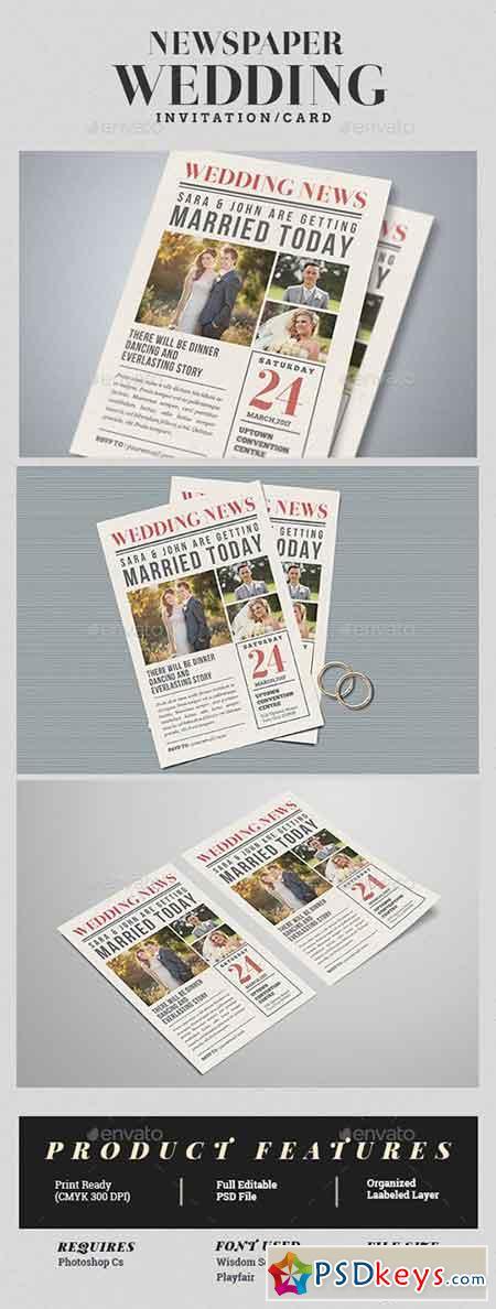 Newspaper Wedding Invitation 17351831