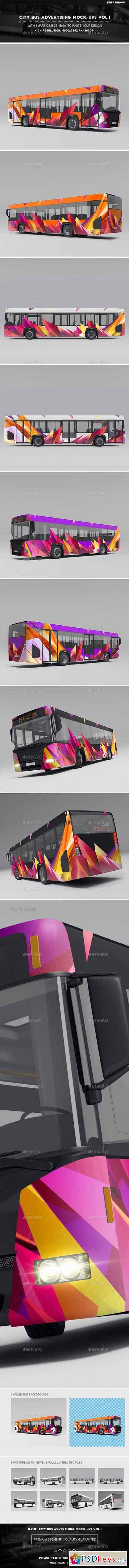 City Bus Advertising Mock-Ups Vol.1 20730427