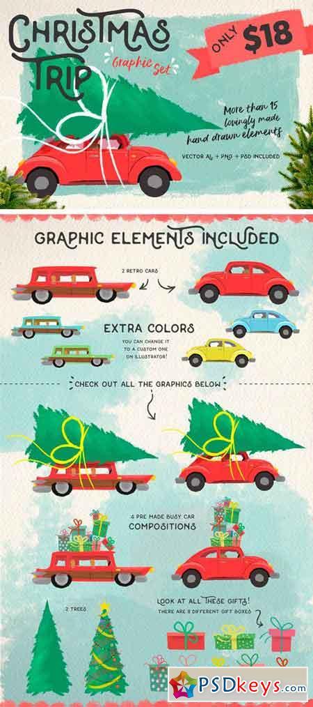 Christmas Trip a Graphic Set 1818678