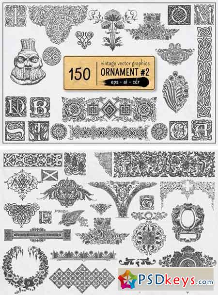 150 Vintage Vector Ornament Vol. 2 1818531