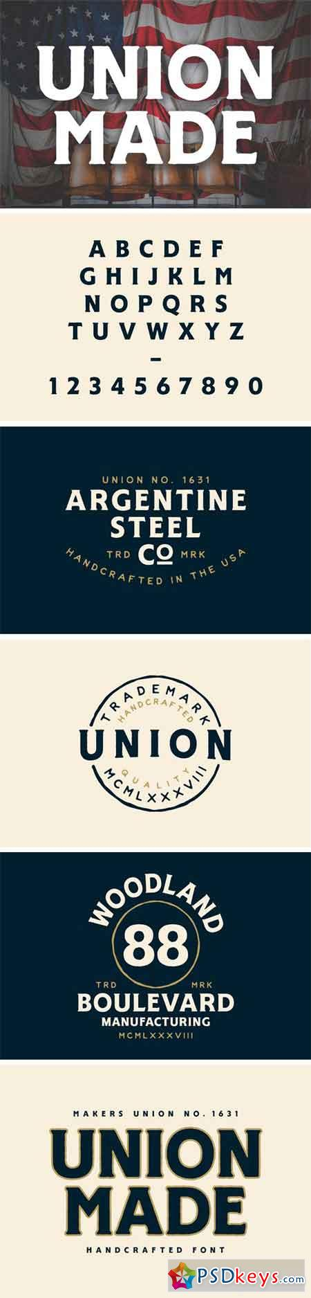 UNION MADE FONT 1867565