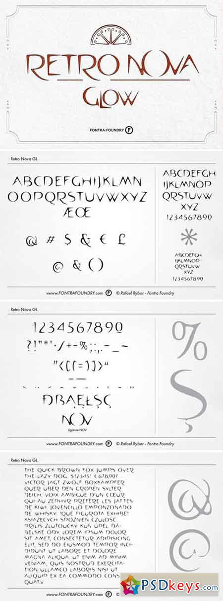 Retro Nova GL Typeface 1827490