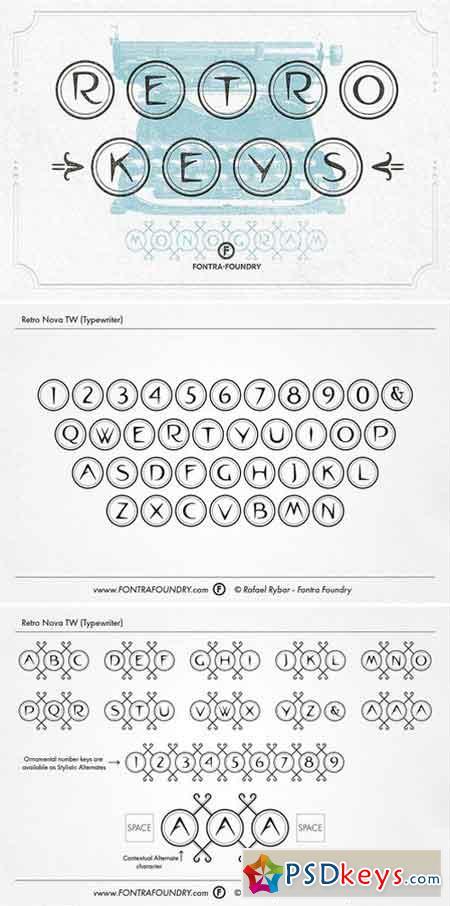 Retro Nova TW Typeface 1827677