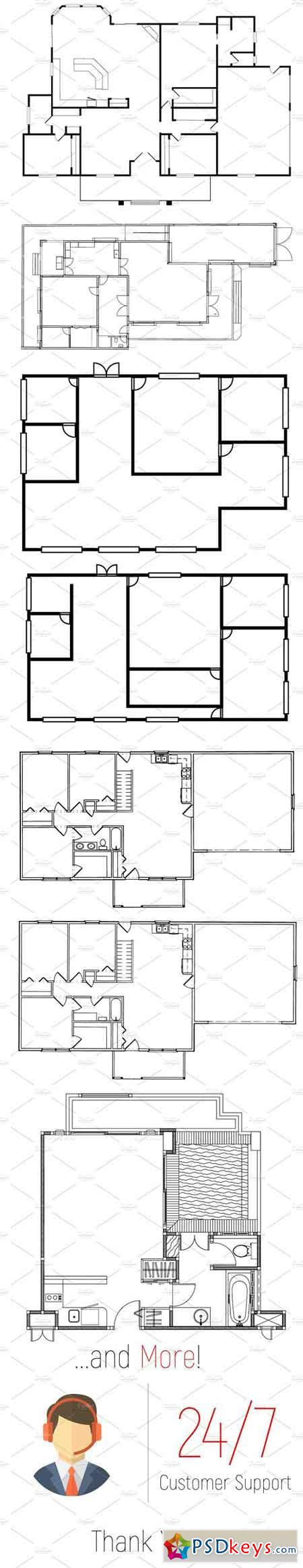 Attractive Architecture Floor Plan Builder Kit 1829510