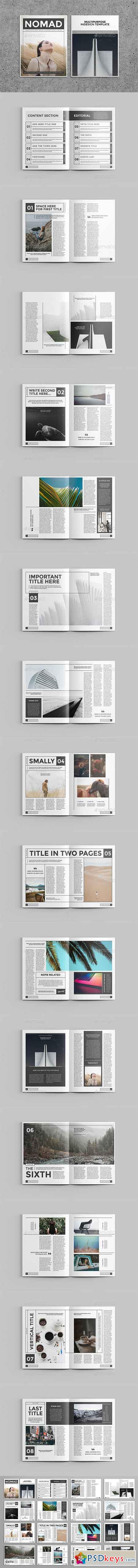 Nomad Magazine Template 20598779