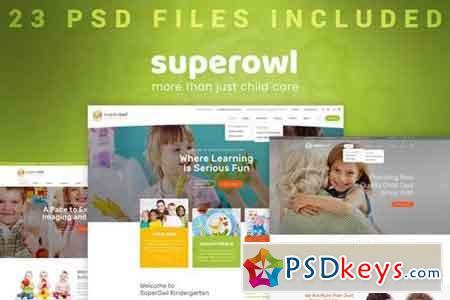 SuperOwl - Kindergarten PSD Template