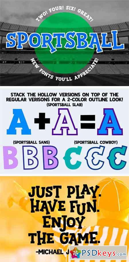 Sportsball Fun Font with Alternates 1830136