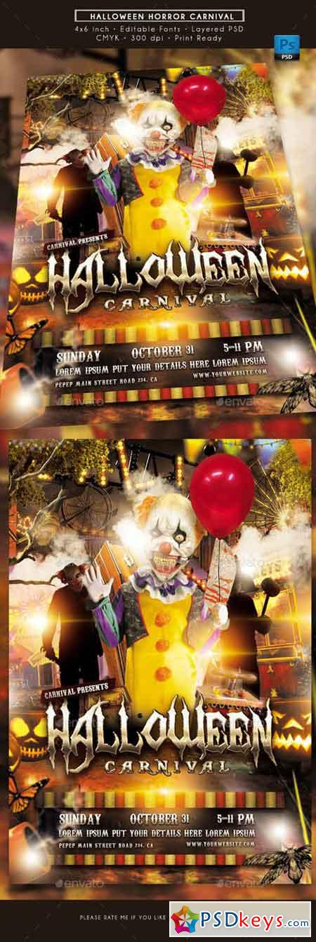 Halloween Horror Carnival Flyer 20706445