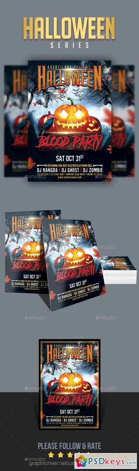 Halloween Blood Party Flyer 20693638
