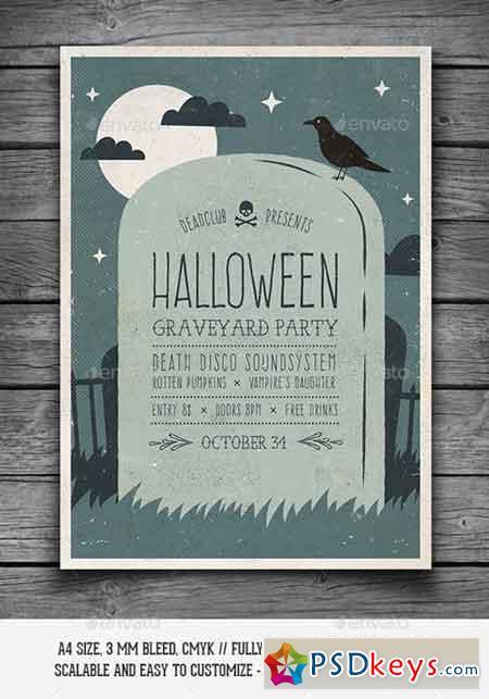 halloween graveyard party flyer 9205894 - Halloween Party Music Torrent