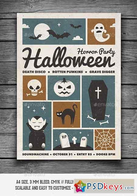 retro halloween party flyer 9185623 - Halloween Party Music Torrent