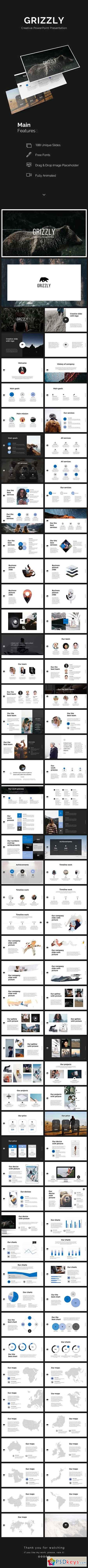 Grizzly PowerPoint Template 20729073