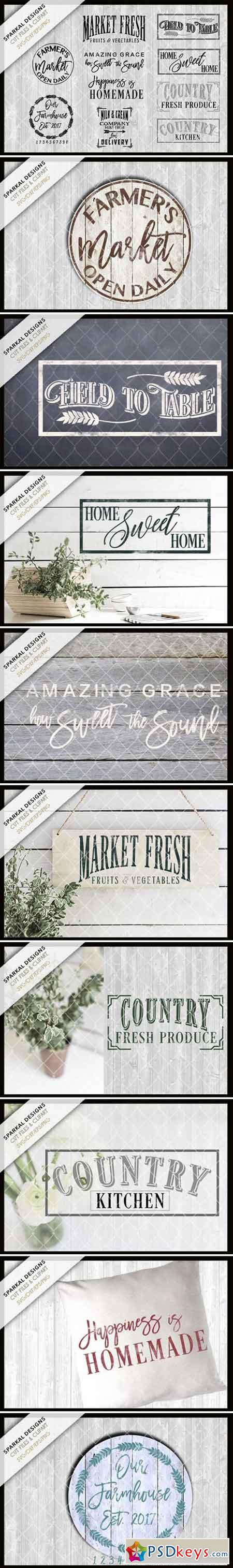 Farmhouse Bundle Sale ~ SVG Files 1730387 » Free Download