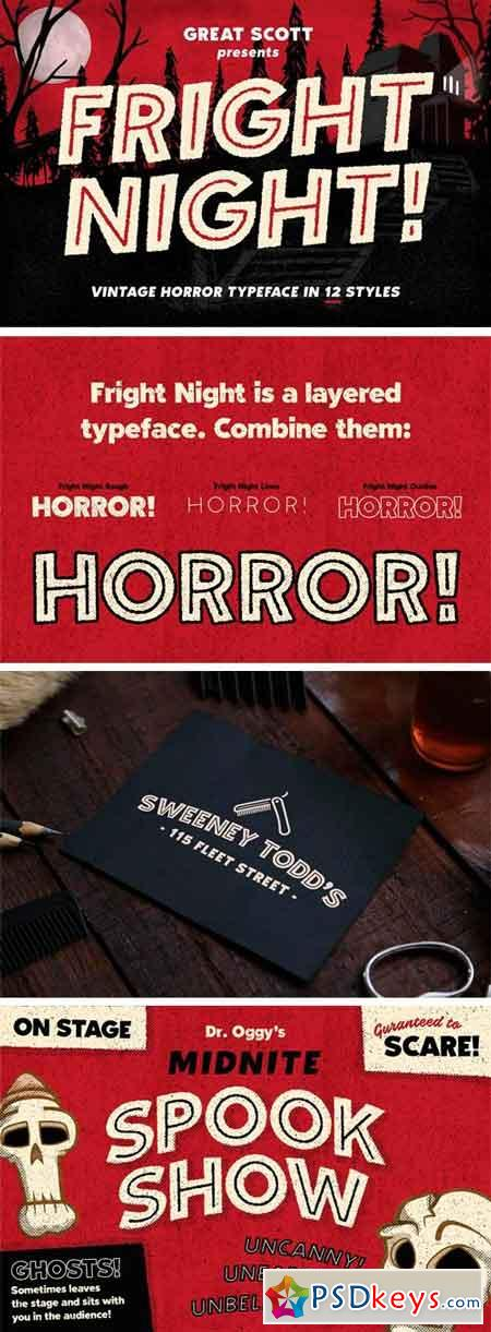 Fright Night! A Vintage Horror Font 1859194
