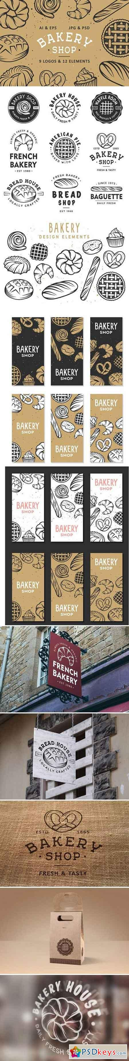 Set of bakery logos and elements 1804865