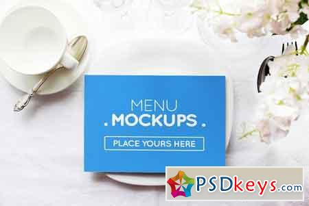 Reserve Card, Menu Mockups #1 1834376