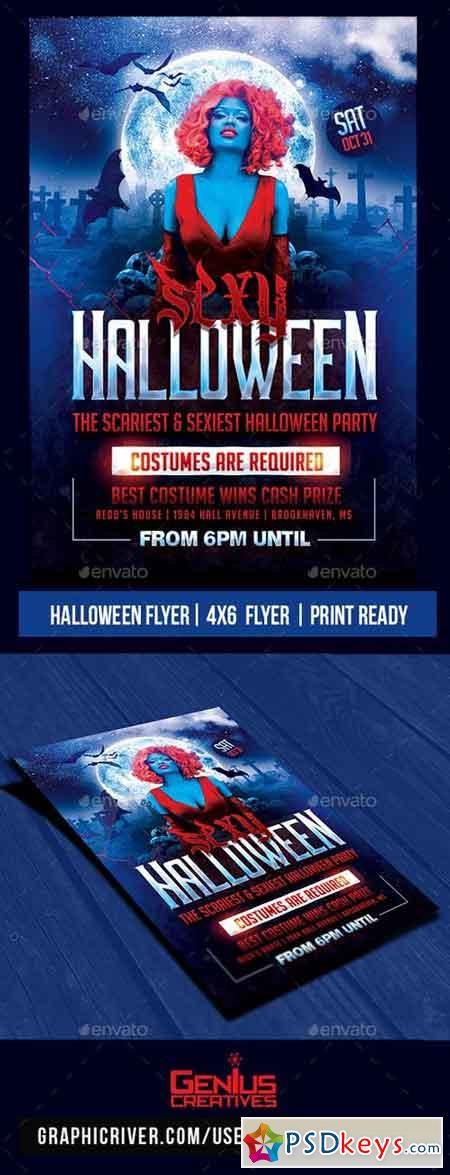 Halloween Party Flyer Psd Template 20736404