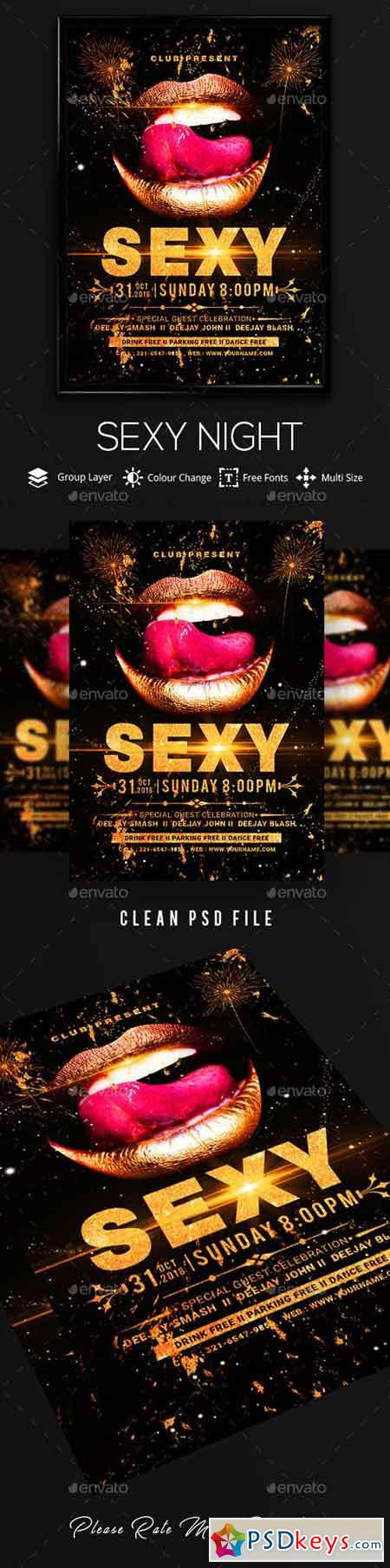 Sexy Night Poster Flyer 20735226