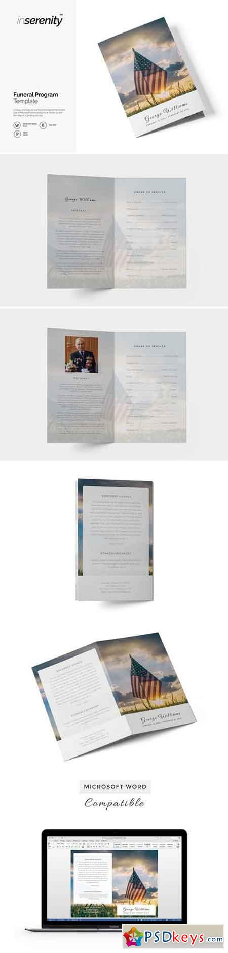 Military funeral program template 1825903