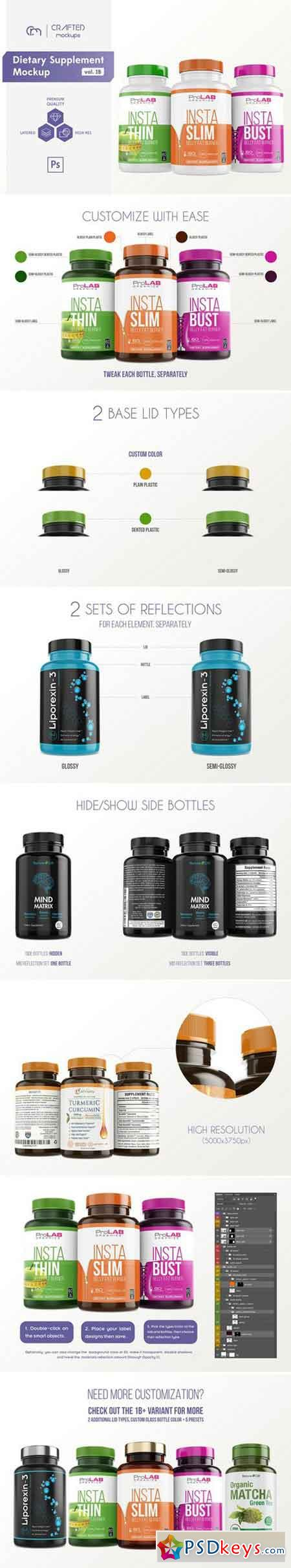Dietary Supplement Mockup v. 1B 1833984