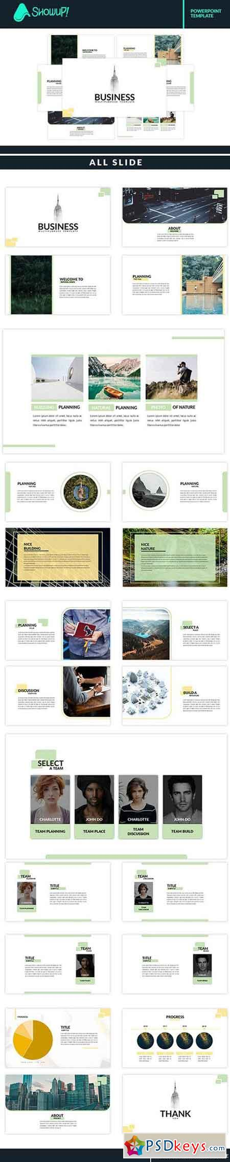 Business Minimal Powerpoint Template 1872558