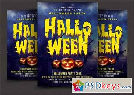 Halloween Party Flyer 1890021