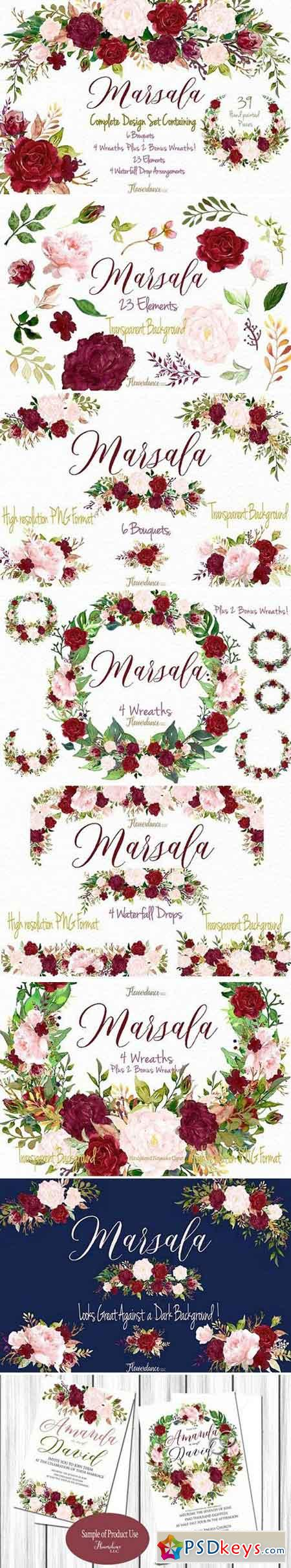 Marsala and Blush Design Collection 1834396