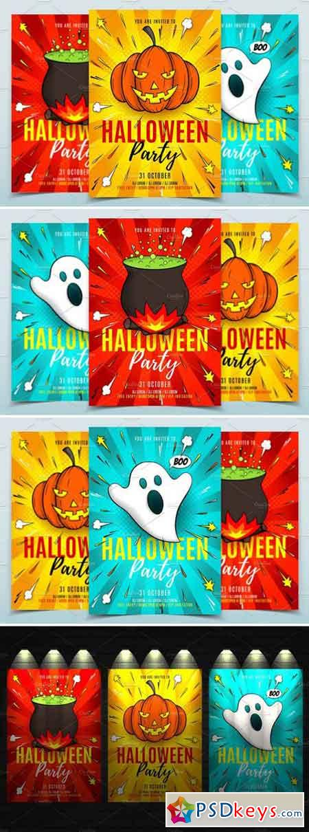 Halloween Party Flyers Templates 1885265