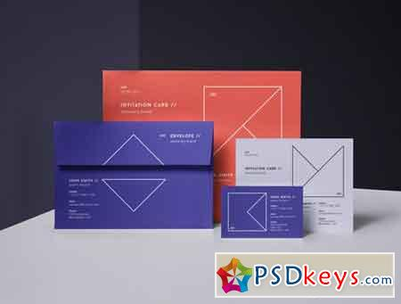 Psd Invitation Card Mockup Vol 3