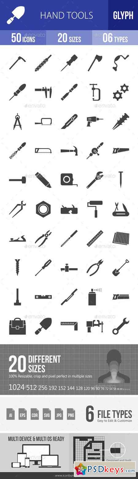 Hand Tools Glyph Icons 19407619