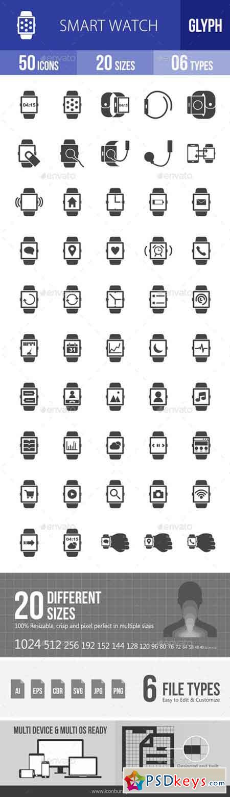 Smart Watch Glyph Icons 19327724