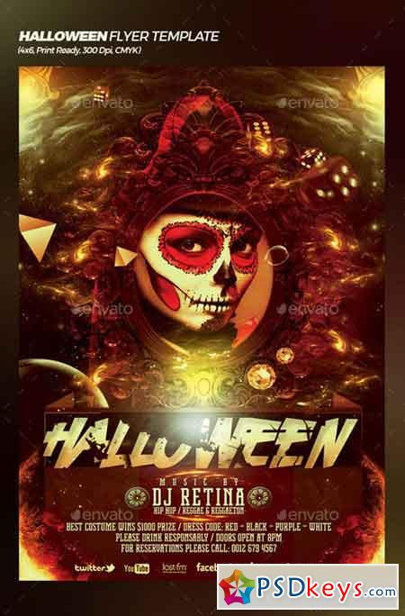Halloween Bash Flyer Poster Template 20773576