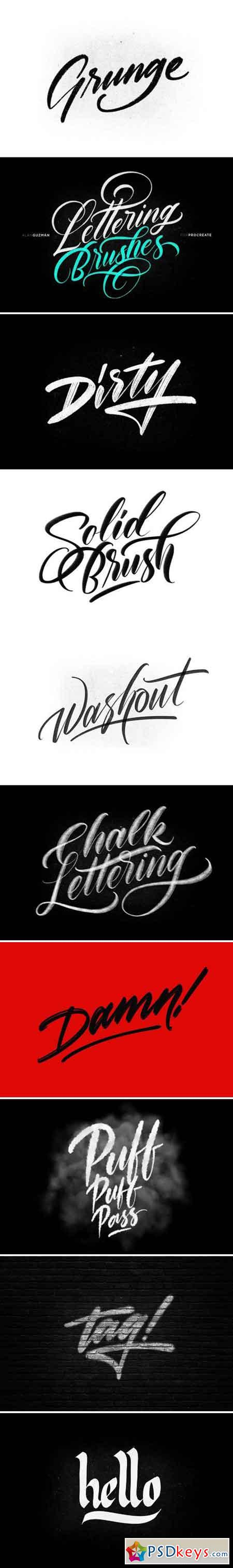 Procreate Lettering Brushes 1835407