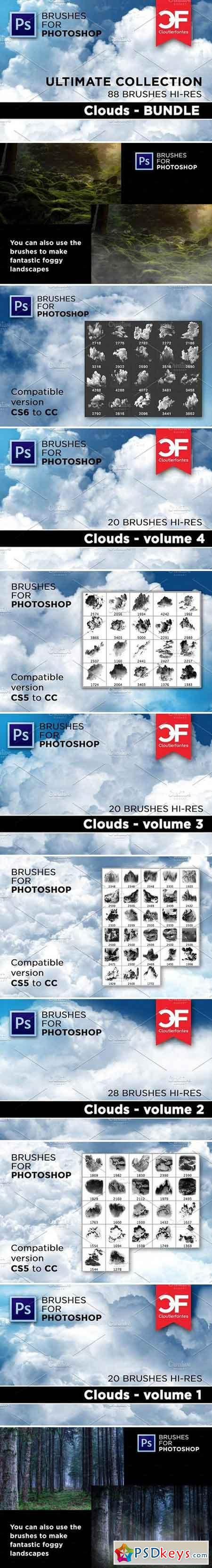 Ultimate Clouds brushes Collection 1853509