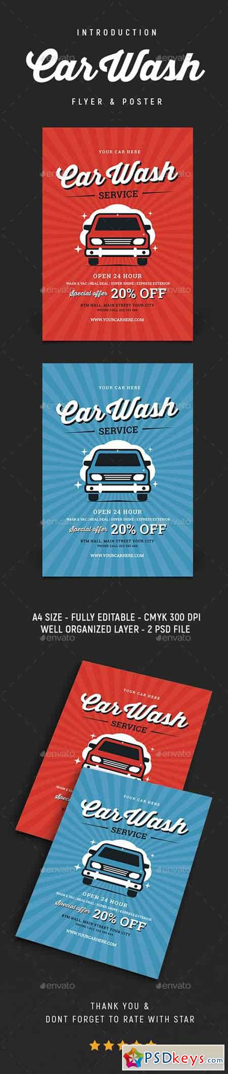 Vintage Car Wash Flyer 20783172