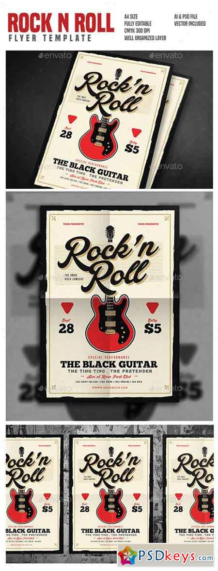 Rock n Roll Music Flyer 17846943