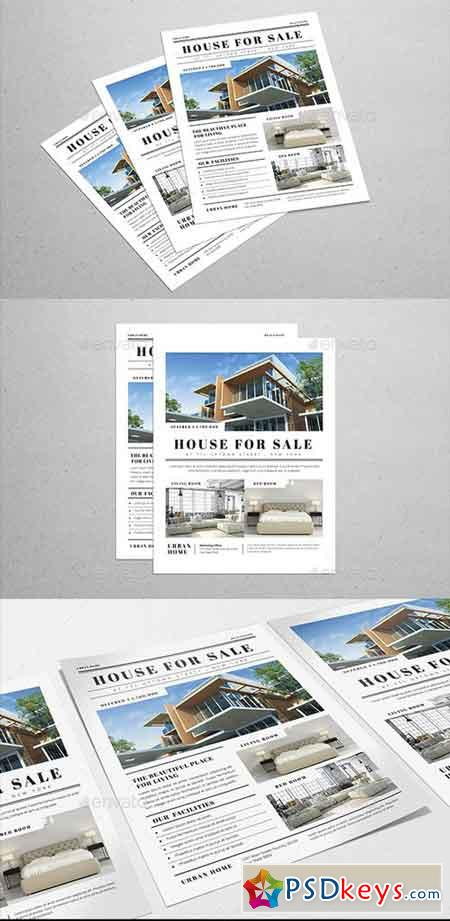 Simple Newspaper Real Estate Flyer 20680689