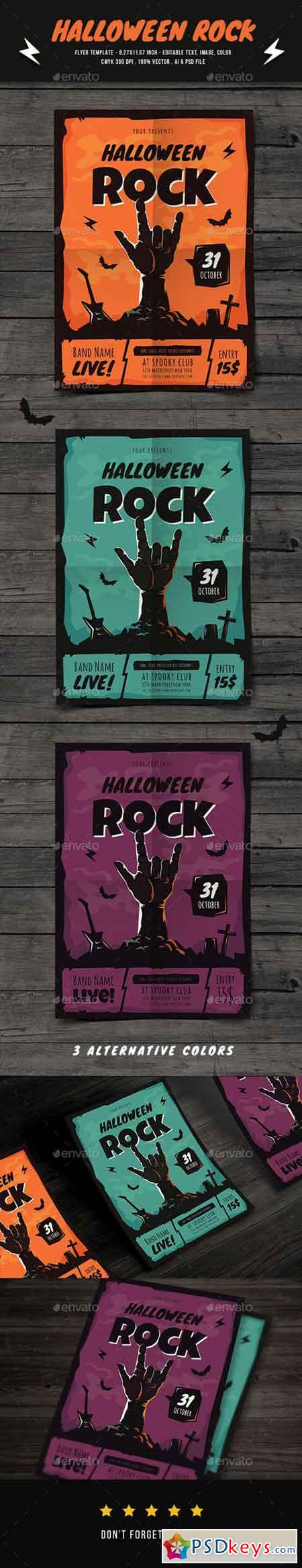 Halloween Rock Flyer 20654091