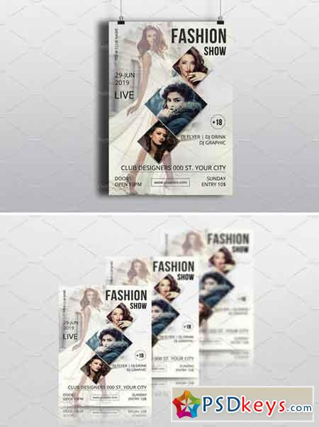 Fashion Show Flyer Template-V599 1739538