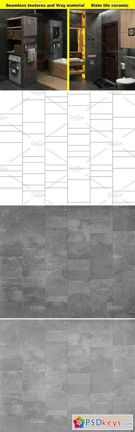 Slate tile textures, for 3D graphic 1771916