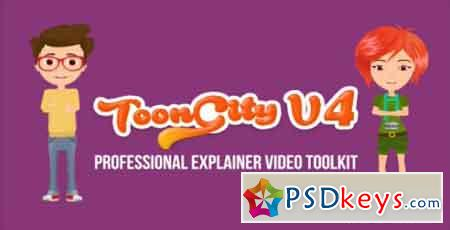 Explainer Video Toolkit Toon City 4 20568754 - After Effects Projects
