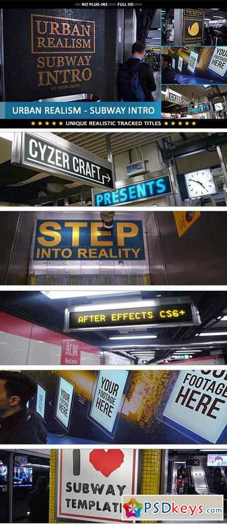 Urban Realism - Subway Intro 19654033 - After Effects