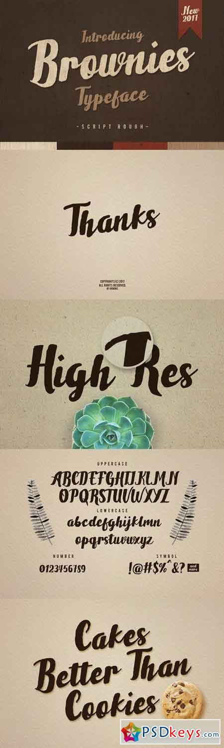 Brownies Typeface 40027