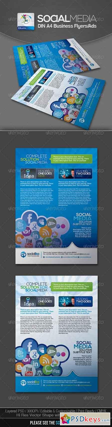 Social Media Business Flyers v.2 3023822