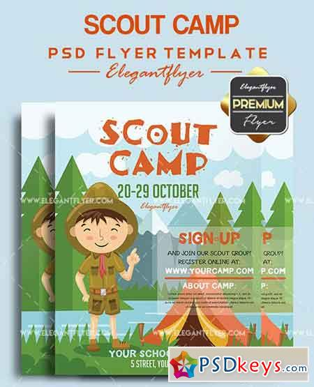 Scout Camp – Flyer PSD Template + Facebook Cover