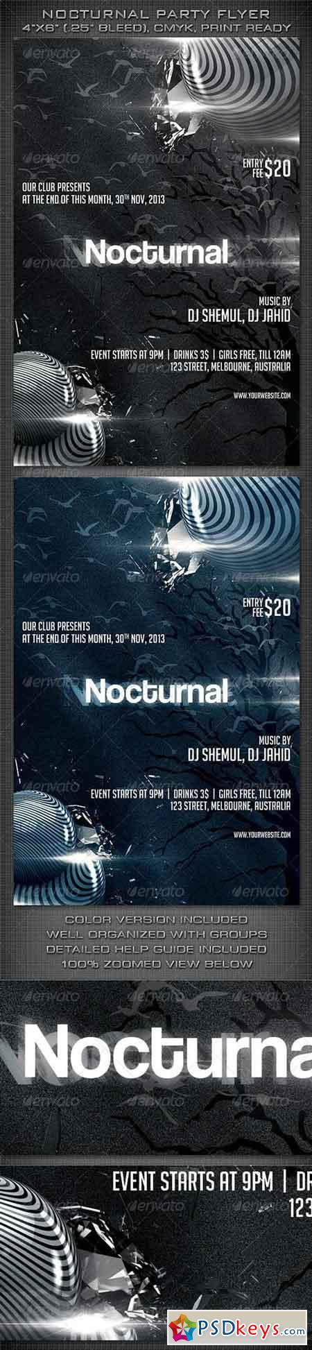 Nocturnal Party Flyer 6045694